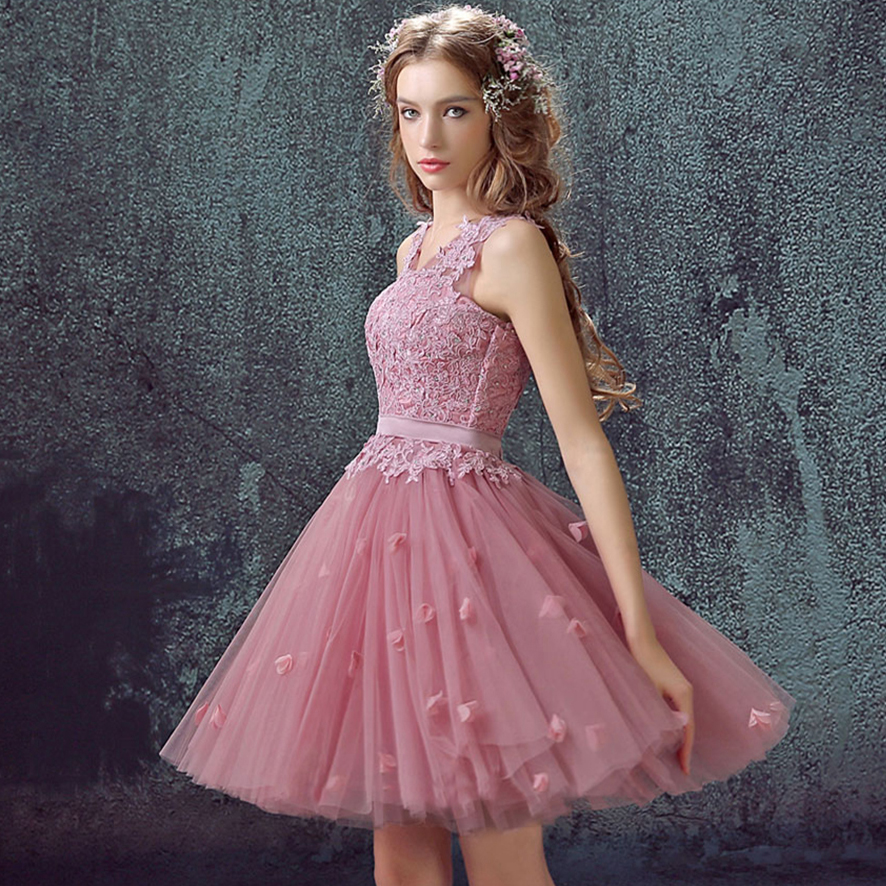 84746456c New style Short Chiffon Cocktail Dress a line dress Pink v neck Cute  Special Occasion Cocktail Dresses for juniors.5733,ty1219-in Cocktail  Dresses from ...