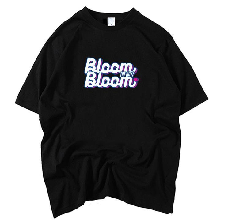 The Boyz Album Bloom Bloom Same Printing O Neck Short Sleeve T Shirt For Summer Style Kpop Unisex Loose T-shirt K-pop Tees