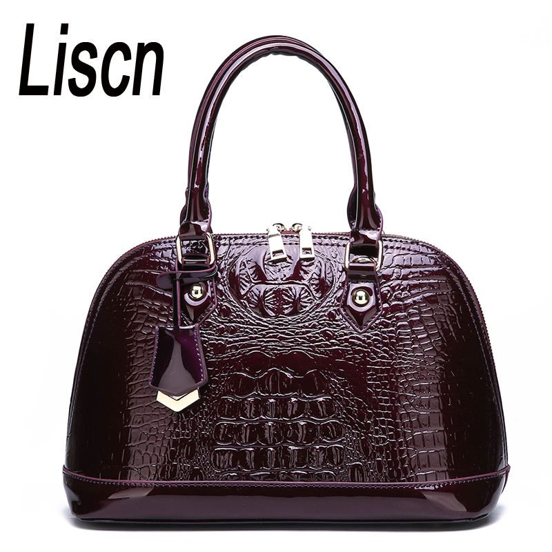 OL Handbag Messenger-Bag Women's Bag Crocodile-Pattern Shoulder Fashion High-Quality