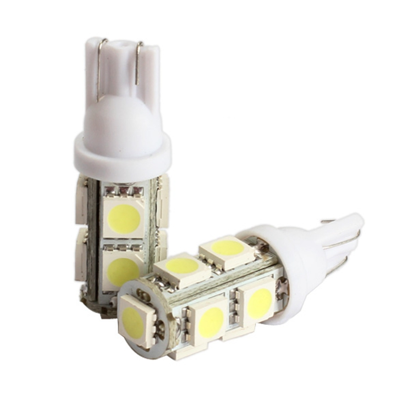 2Pcs Car-styling Led Light 194 168 W5W T10 9SMD 5050 LED Automobiles Tail Turn Signal Side Marker Light-emitting Diode Lamp Bulb 10pcs t10 led bulb 5 smd 5050 led t10 w5w 194 168 car light source lamp t10 5 led dash indicator signal side wedge tail light