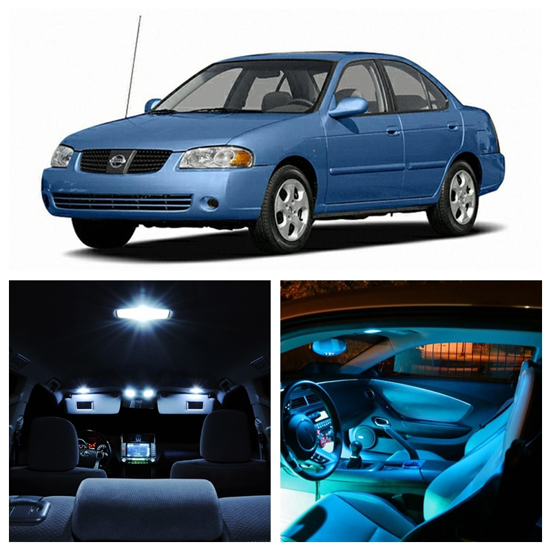 9pcs White Ice Blue Led Light Bulbs For 2004 2005 2006 Nissan Sentra