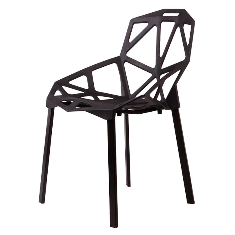 Excellent modern minimalist wooden hollow plastic chair Dining chairs  creative casual European and American fashion geometric ch-in Shampoo Chairs  from ...