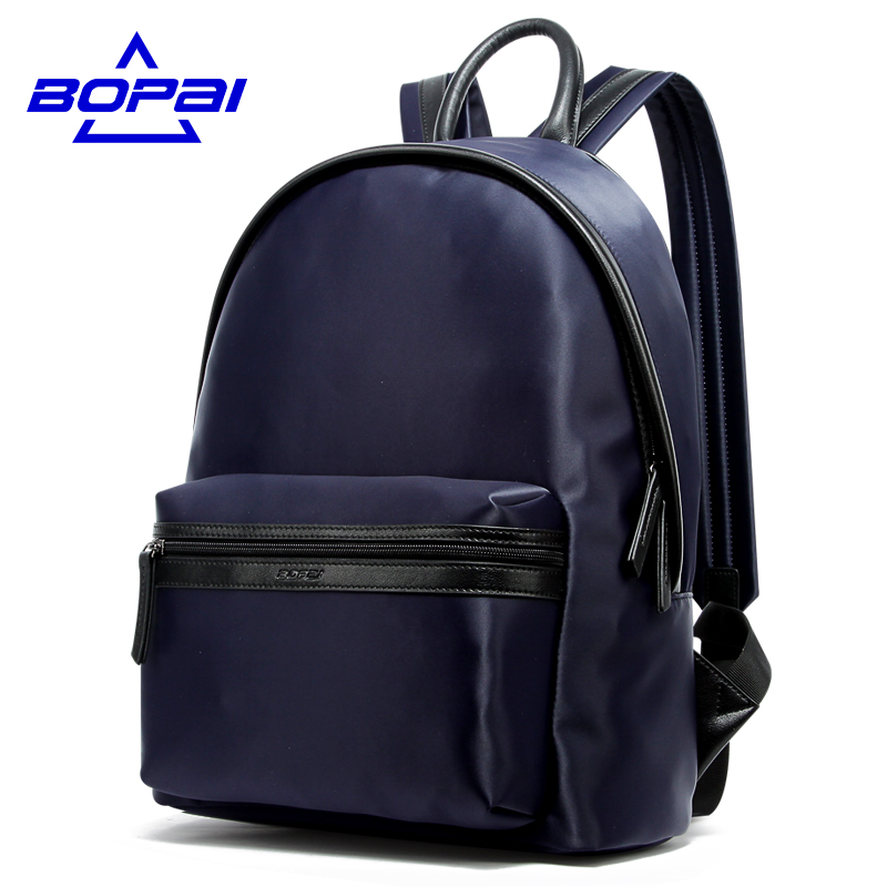 2017 Men Male Nylon Backpack College Student School Backpacks for Teenagers Fashion Mochila Rucksack Travel Daypack BOPAI voyjoy t 530 travel bag backpack men high capacity 15 inch laptop notebook mochila waterproof for school teenagers students