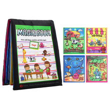 Baby Toys Soft Comfort Cloth Book Educational 3D Graffiti Drawing Water Canvas Cloth Book Puzzle Toy Newborn Baby Toy 0-12 month недорого