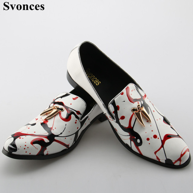 Blanc, Plein strass Hommes Mocassins véritable marque Slip en cuir sur Chaussures plates Hommes Oxfords plus Taille