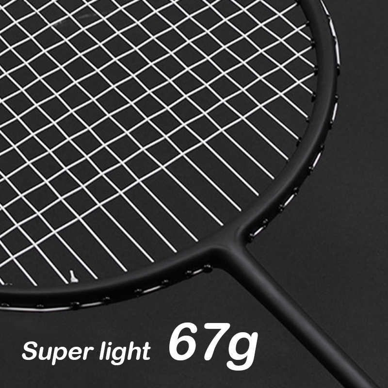 Ultralight Strung 7U 67g Professional Carbon Badminton Racket Bag String Light Weight Racquet 22-30 LBS Nanoray Z Speed Force