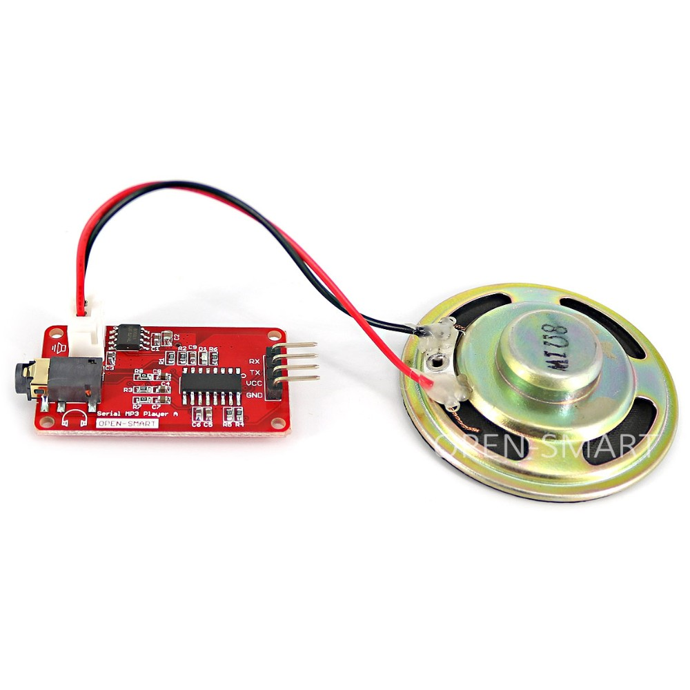 UART Serial MP3 Music Player Module With Speaker Monaural Amplifier
