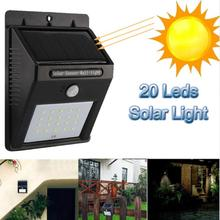 20 LED Solar Power Light Optically controlled Sensor Wall Light Garden Step Stair Deck Lights Balcony Fence Lamp