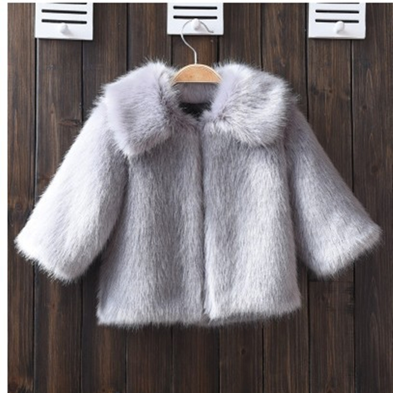 Kids Winter Fur Jacket New Children Coat Baby Boys Clothes Mink Thick Hooded Coats Infant Girls Warm Sweater Clothing Autumn 2017 new baby girls boys winter coats jacket children down outerwear warm thick outdoor kids fur collar snow proof coat parkas