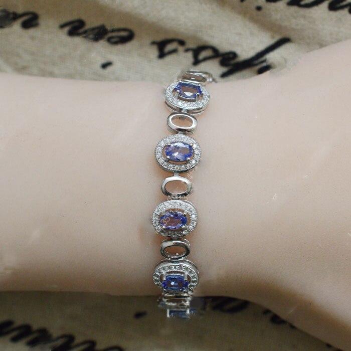 Новинка года, срочная Qi Xuan_Fashion Jewelry_Blue Камень Элегантный Bracelets_S925 чистого серебра синий Bracelet_Factory прямые продажи