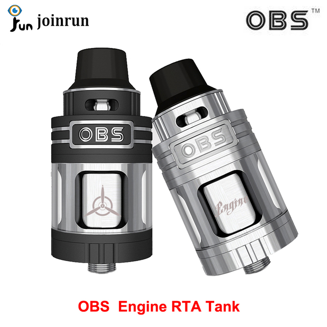 Original E-Cigaretes OBS Engine RTA Tank with 5.2ml E-juice Capacity Top Side Filling Top Airflow Vaporizer Rebuildable Atomizer