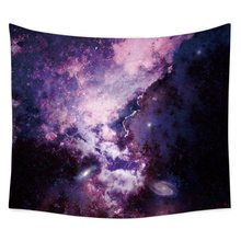 Cosmic Starry Sky Psychedelic Tapestries Polyester Fabric Hippie Bohemian Print Home Decor Wall Hanging Tapestry Beach Throw(China)