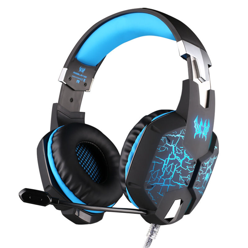 EACH G1100 Gaming Headset Auriculares Headphones Luminous with Vibration 7 1 Virtual Surround Mic Microphone Gaming