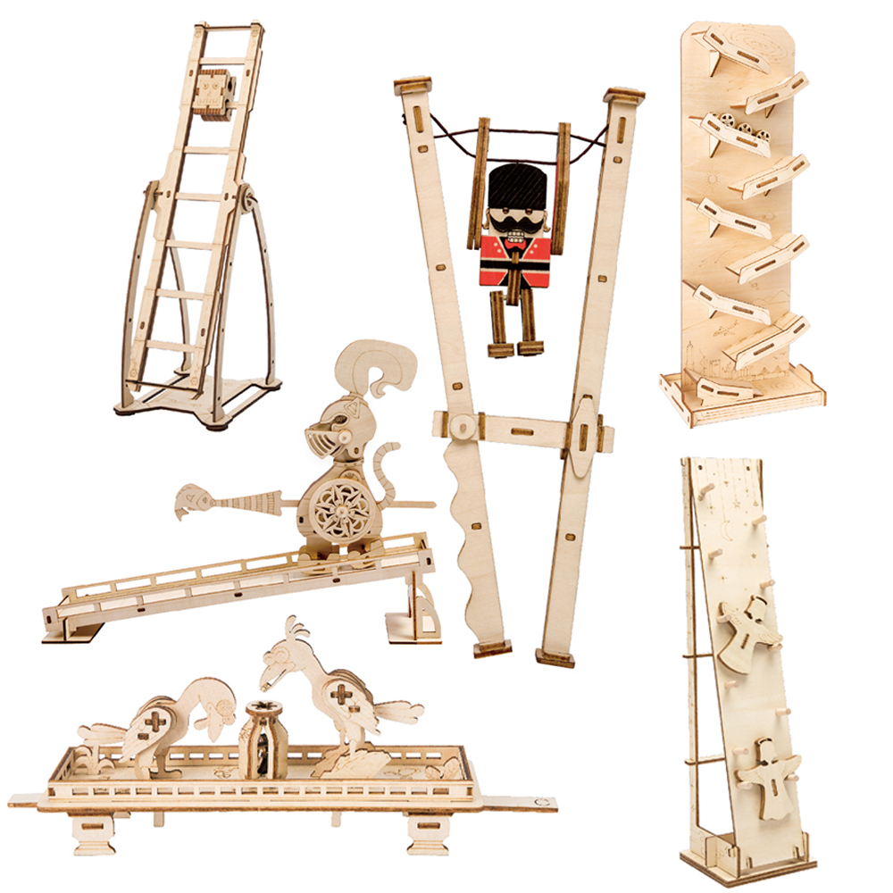 ROKR DIY Novelty Gag Toys Stress Relief Toys 3D Wooden Puzzle Juguetes Assembly Model Toys for