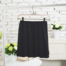 Black Pink Ivory White Mini Half Slips Under Dress Summer Safety Satin Underskirt Satin Women Girl Plain Petticoat