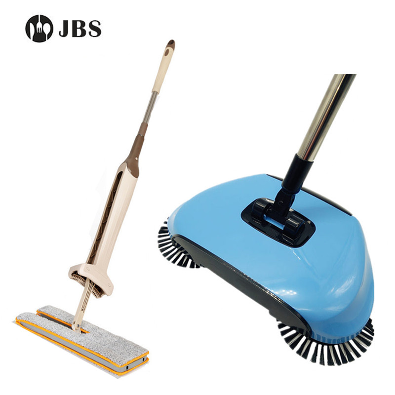 Double Sided Flat Magic Mop & Hand Push Sweepers Broom ...