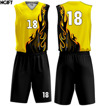 Ngift сублимации баскетбольные майки на заказ набор, цена Высокая школьная баскетбольная одежда