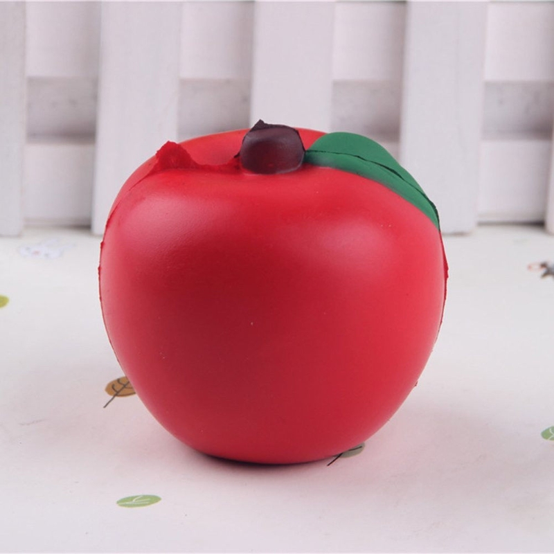 Squishy Apple Scented Squeeze Slow Rising Fun Toy Relieve Stress Gift цены онлайн