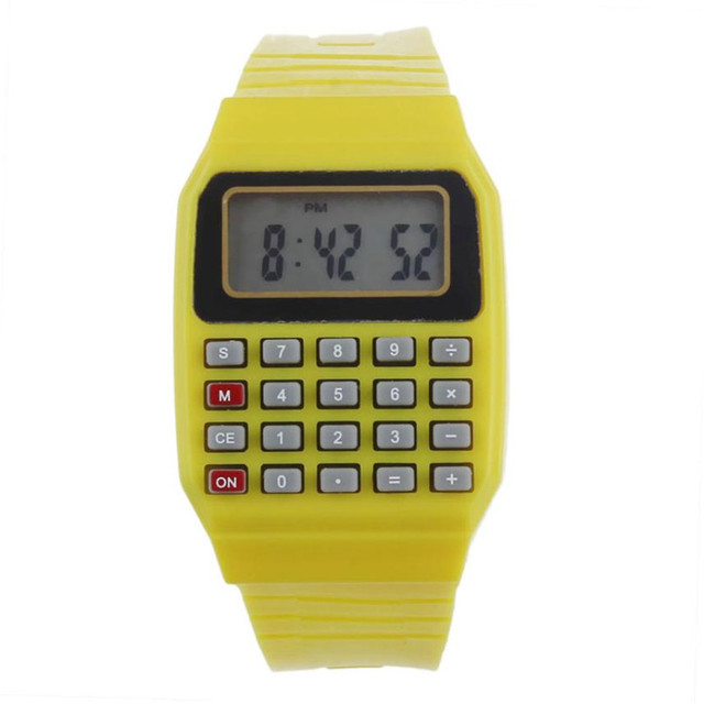 Fashion Kid's Watch Unsex Silicone Multi-Purpose Date Time Electronic Wrist Calc