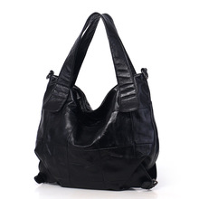 Women's new leather fashion bucket bag Korean version of the first layer cowhide large capacity shoulder Messenger bag цены онлайн