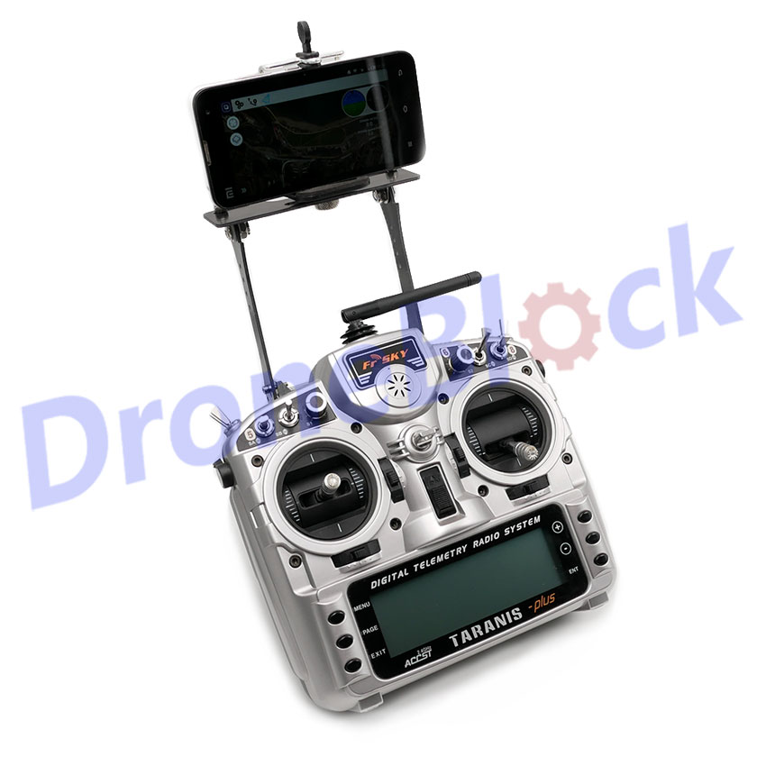 RC Transmitter FPV Phone Holder Clip Mounting Bracket Monitor Mount For FrSky Taranis X9D Q X7 RadioLink RT9S Walkera D7e D10