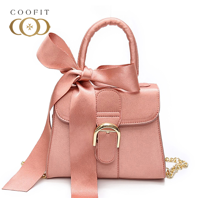 coofit Girls Shoulder Bag Top Handle PU Leather Women Messenger Bags Crossbody Bag With Bowknot For Wedding Shopping Party women floral leather shoulder bag new 2017 girls clutch shoulder bags women satchel handbag women bolsa messenger bag
