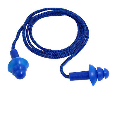 Blue Soft Silicone String Ear Plugs for Swimming Sleeping win max wmb07231 silicone swimming ear plugs pink 2 pcs
