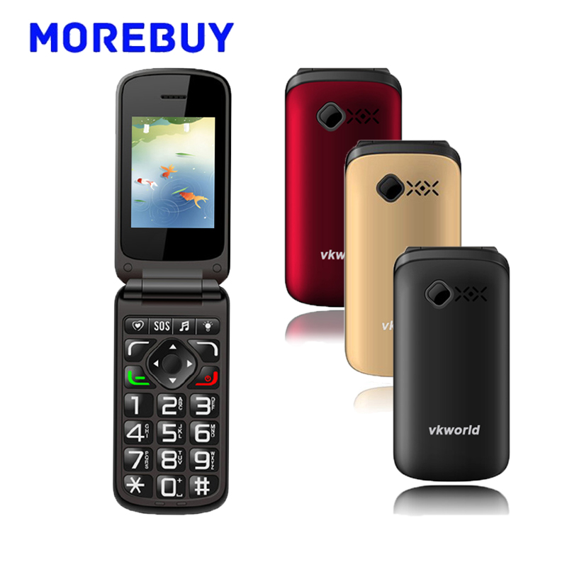 Vkworld Z2 2 4 Inch TFT Large Botton Elder Flip Mobile Phone 320 480 Dual SIM