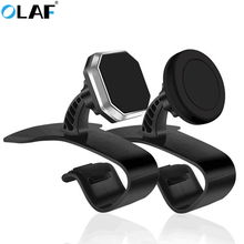 OLAF Universal Magnetic Car Phone Holder 360 Degree Rotation Car Dashborad Holder Clamp Clip Stand For iPhone Mobile Phone GPS