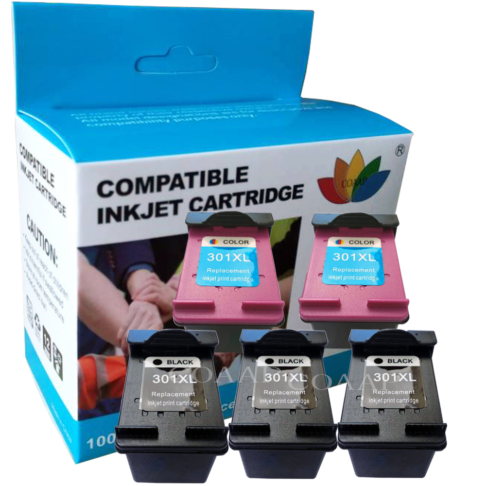 2x Compatible Hp 301 XL Refilled Ink Cartridge For HP 2510 3510 D1010 1510 2540 4500 1050 2050 2050s 4502 4504 4505 Printer
