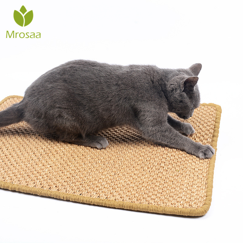 Mrosaa 40x60cm Sisal Cat Scratcher Board Pad Toy Climbing Tree Scratching Mat For Cats Protecting Furniture Foot Large Size