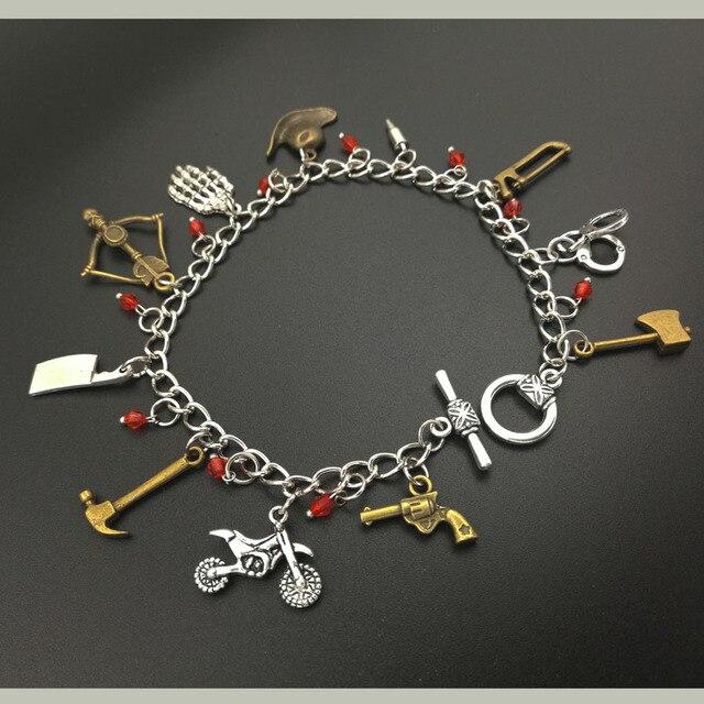 the walking dead tv inspirational charm bracelet fandom jewelry