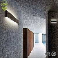 Lâmpada de alumínio minimalista e moderno 85-265 v conduziu a lâmpada de parede sala de estar corredor escadas arandela luz decoração criativa iluminação