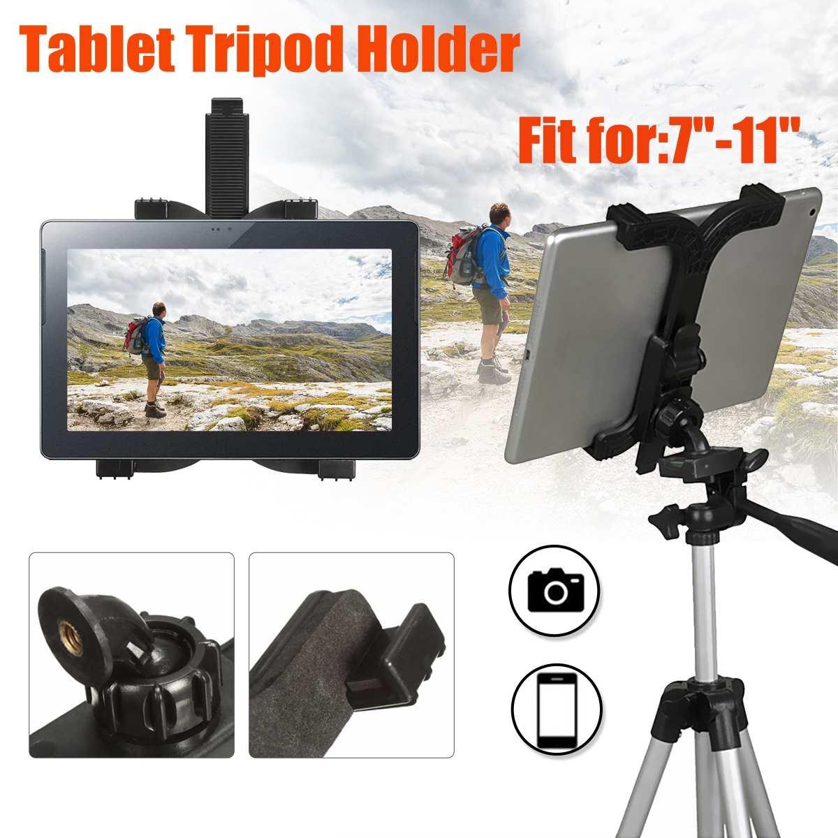 Adjustable ABS Self-Stick Tripod Mount Stand Holder Tablet Mount Holder Bracket Clip Accessories For 7-11'' Tablet For iPad