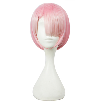 HSIU graduated color REM cosplay wig or RAM cosplay wigs Re:Zero Starting Life in Another World Costume play Halloween costumes 1