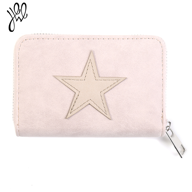 Lovely Small Women Wallets Leather Purse Brand Short Wallet Best Gift Star Girls Wallet Card Holder Mini Lady Coin Purse 500609 high quality leather cute women s wallets coin purse leather short women leather wallets girls best gift free shipping