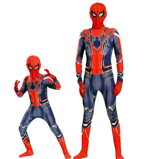 custom original black amazing children iron spiderman iron spider costumes for kids boys costume halloween adult homecoming suit  sc 1 st  Aliexpress & Online Shop custom original black amazing children iron spiderman ...