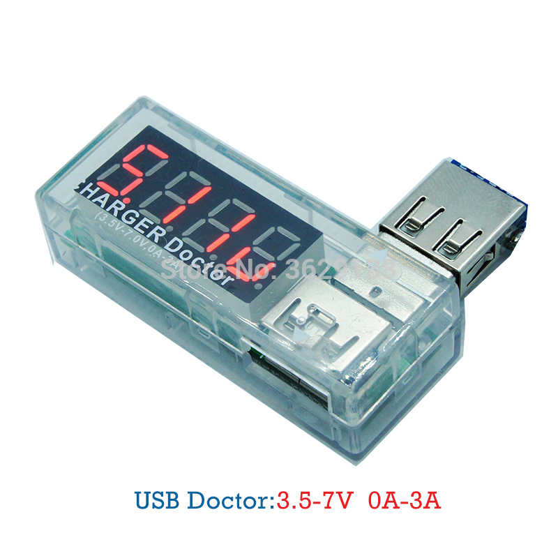 USB Tester 3.5-7V 0-3A Usb tester Charger doctor accuracy class 1% voltmeter current meter (ammeter) Alternating digital display