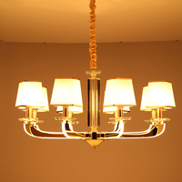 new arrival modern simple personality light arm led crystal chandelier