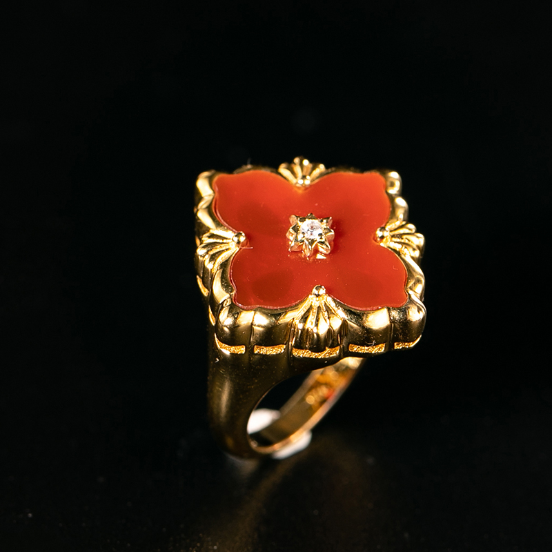 925 argent Zircon anneau argent barre 925 bijoux pour femmes cour européenne style vintage - 3