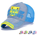 "Funny Smile Mesh Cap ""out of My Pocket"" Denim Baseball Cap Boys Girls Sun Hat AM17224MZ8"