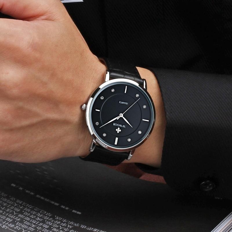 WWOOR Merk Luxe Herenhorloges Waterdicht Ultradun Eenvoudig Quartz - Herenhorloges - Foto 4
