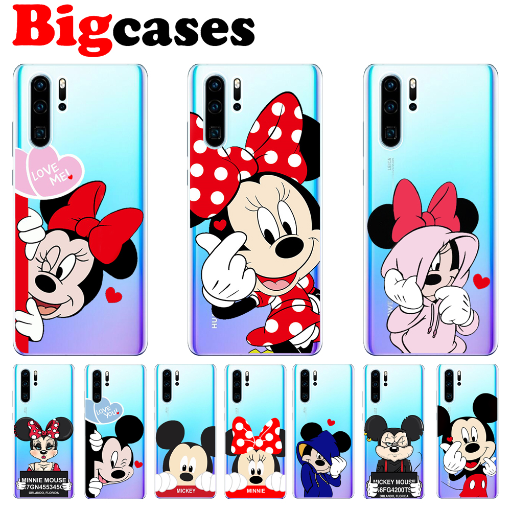 FUNNYRUI Cute Mickey Minnie Phone Cases For Coque Huawei Mate 10 ...