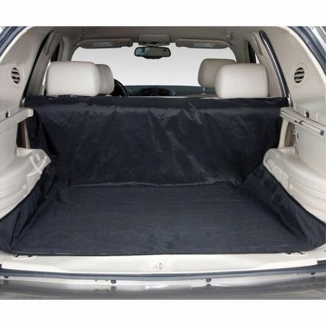 New Design! Dual-use Waterproof Oxford Dog Auto Car Trunk Mat / Back Seat Cover Pet Hammock Mats With 4 Straps Black 150x120cm