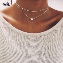 The 21st century simple fashion womens necklace copper love double