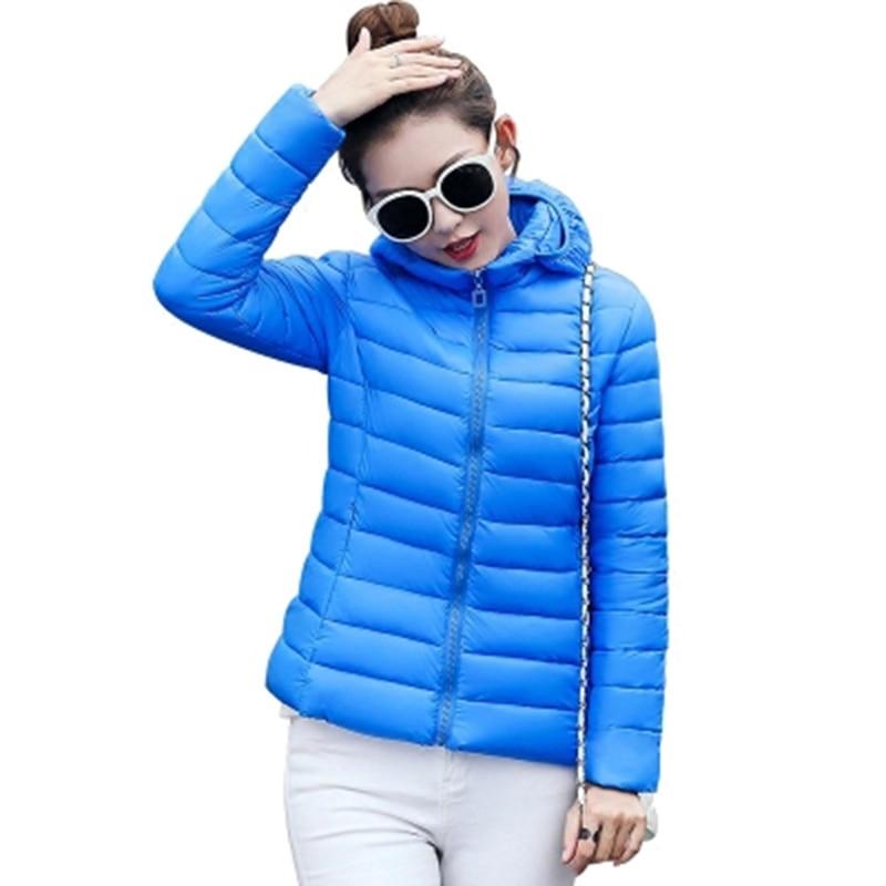 2017 New autumn and winter Jacket Parka Women Winter Coat Women's Warm Outwear Thin Cotton-Padded Short Jackets Coat RE0042