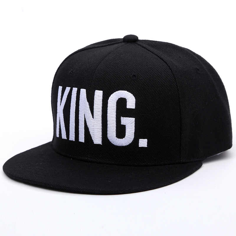 ... KING QUEEN Cap With Embroidery Snapback Hip Hop Baseball Caps Man  Lovers Couples Men Women Cartoon ... e0f9ae84d415