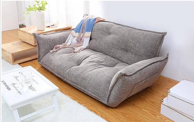 Wonderful Modern Design Floor Sofa Bed 5 Position Adjustable Sofa Plaid Japanese  Style Furniture Living Room Reclining