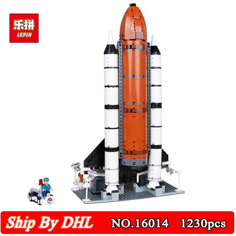 DHL Ship Lepin No.16014 Aviation Launch Space Shuttle Expedition Model Building Kits Blocks 1230Pcs Bricks Children Toy 10231 in stock new lepin 16014 1230pcs space shuttle expedition model building kits mini blocks bricks compatible children toy 10231
