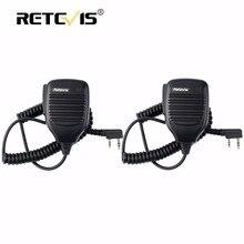 2 шт. PTT Динамик микрофон walkie talkie микрофон Аксессуары для Kenwood для Baofeng Bf-888S UV-5R Retevis RT5R H777 RT3 RT22 RT7